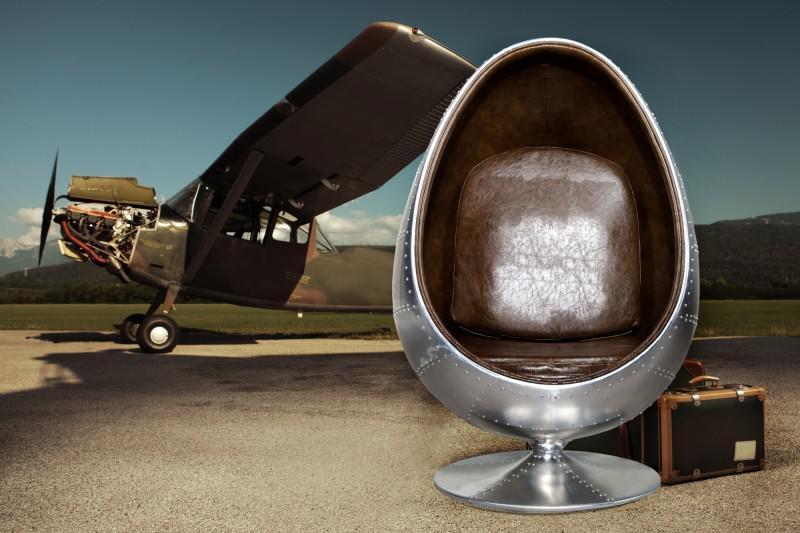 Egg chair nello stile dei vecchi aeroplani   TuttoSulleGalline.it