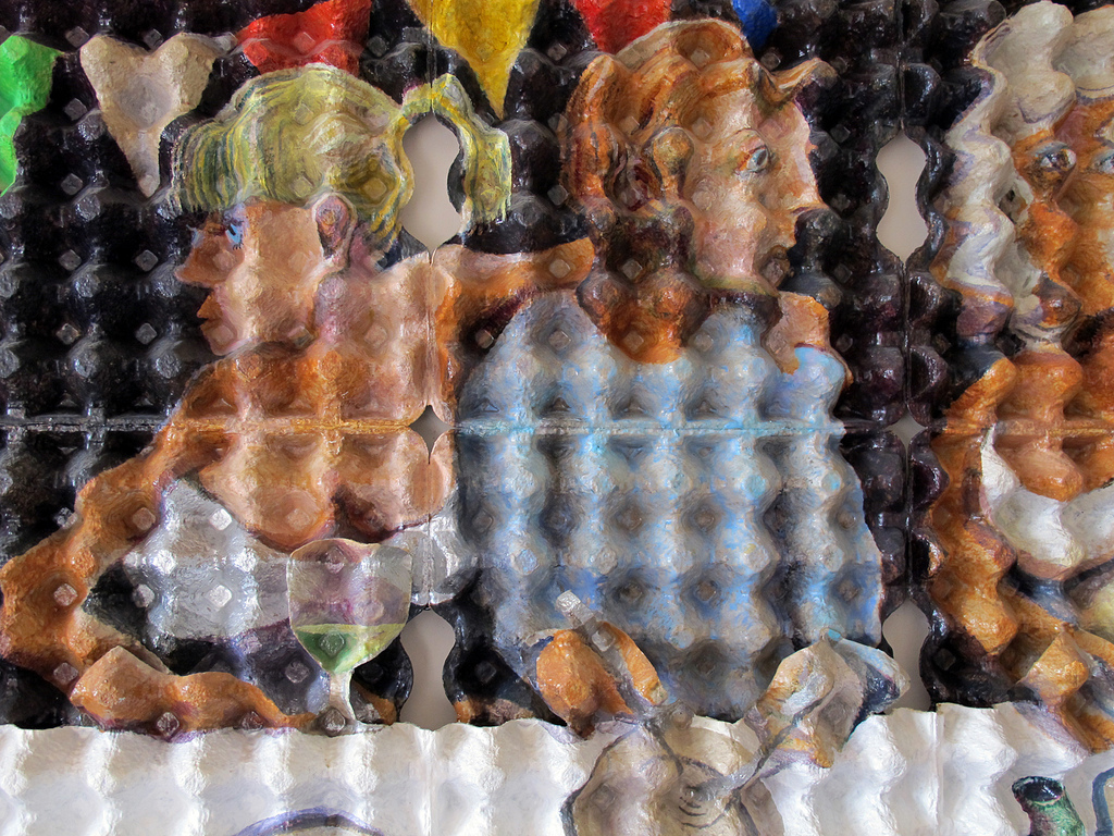 EggCubism, opera d'arte di uovocubismo di Enno de Kroon