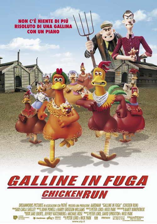 Galline in Fuga. La Locandina del film.