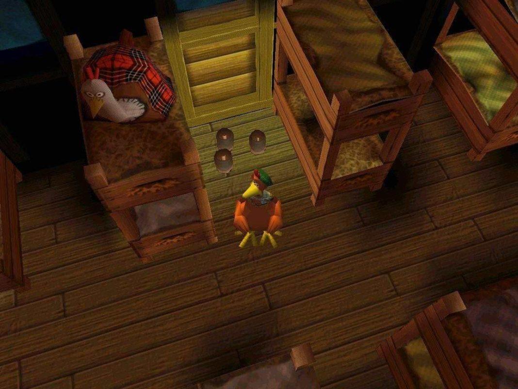 Un ambientazione del videogioco per Playstation Galline in Fuga.