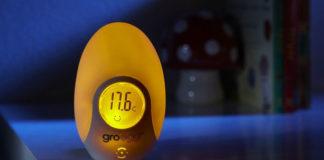 Gro Egg - Termometro digitale a forma d'uovo che indica la temperatura con luci colorate. Adatto per bambini. | TuttoSulleGalline.it
