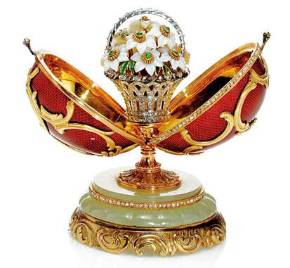 Uovo del cesto di fiori (Fabergé, 1901)