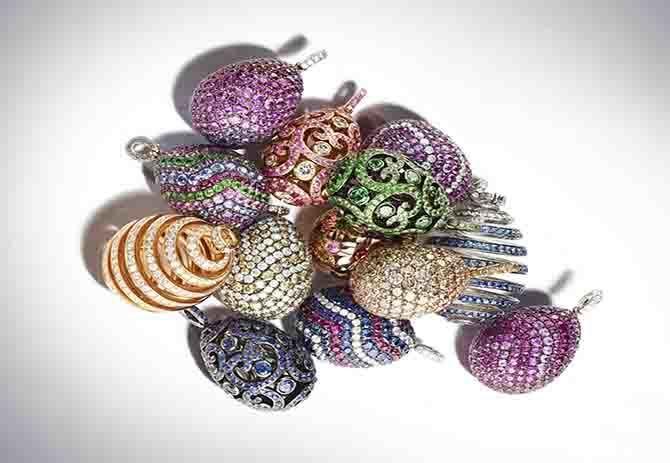 Pendagli Davenport ispirati alle uova Fabergé