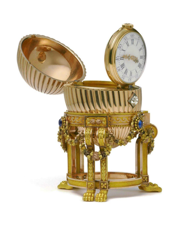 Uovo d'oro Fabergé con orologio (Fabergé, 1887)