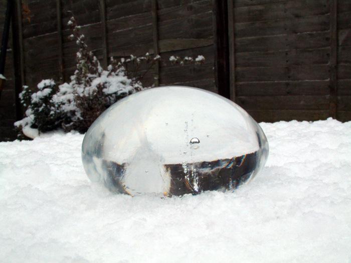 Uovo sulla neve