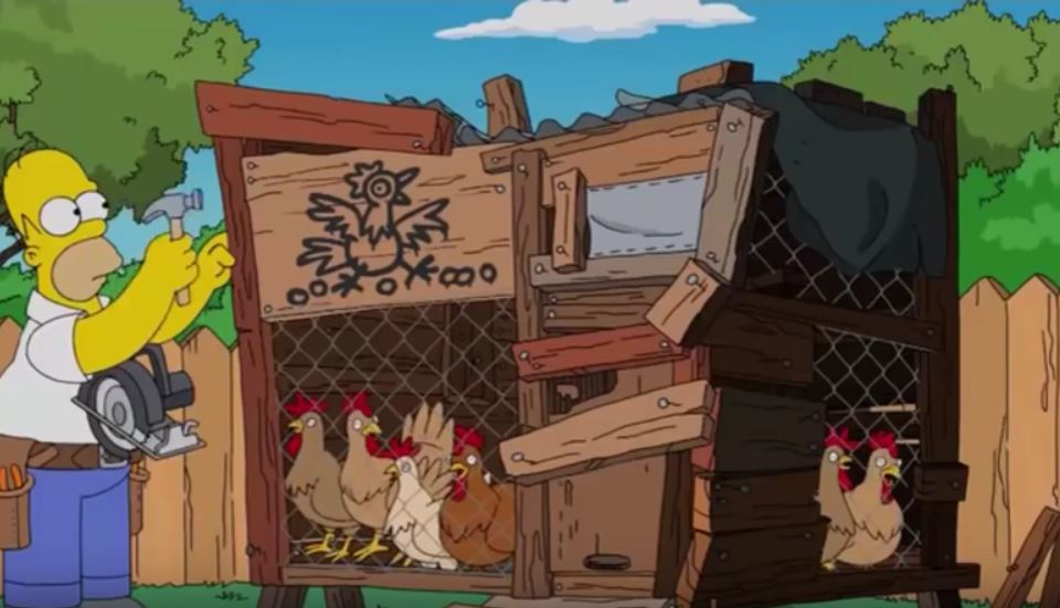 Il pollaio fai da te con le galline di Homer