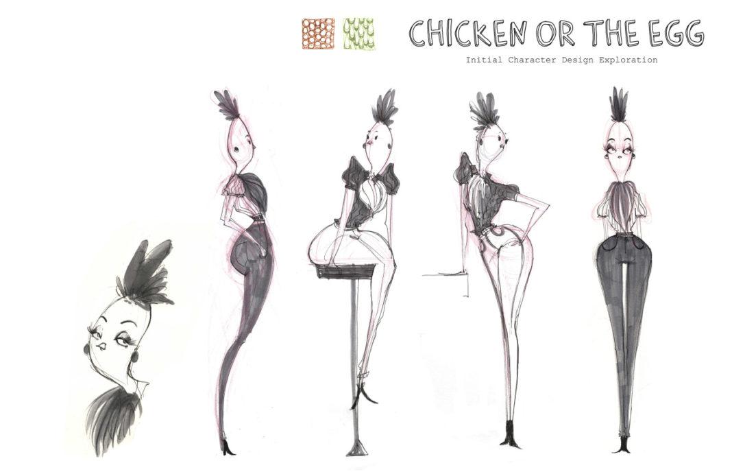 Bozza per la realizzazione del cartone animato Chicken or the Egg