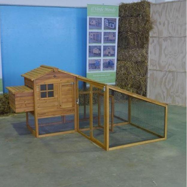 Pollaio in legno fisso Modello Amrock