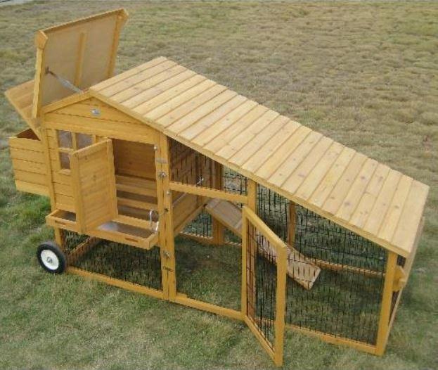 Pollaio in legno mobile su ruote Amrock XL