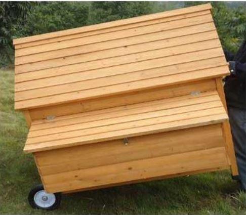 Pollaio in legno Mobile su Ruote Cocincina XXL