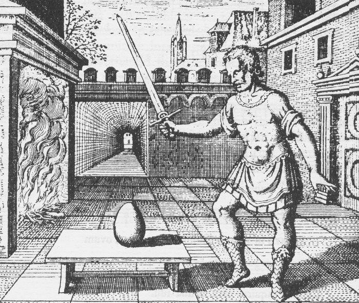L'uovo filosofale, simbolo della materia primordiale