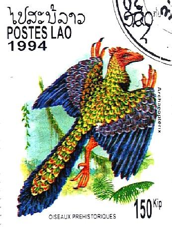 Il diretto antenato degli Uccelli: l'Archaeopteryx lithographica.