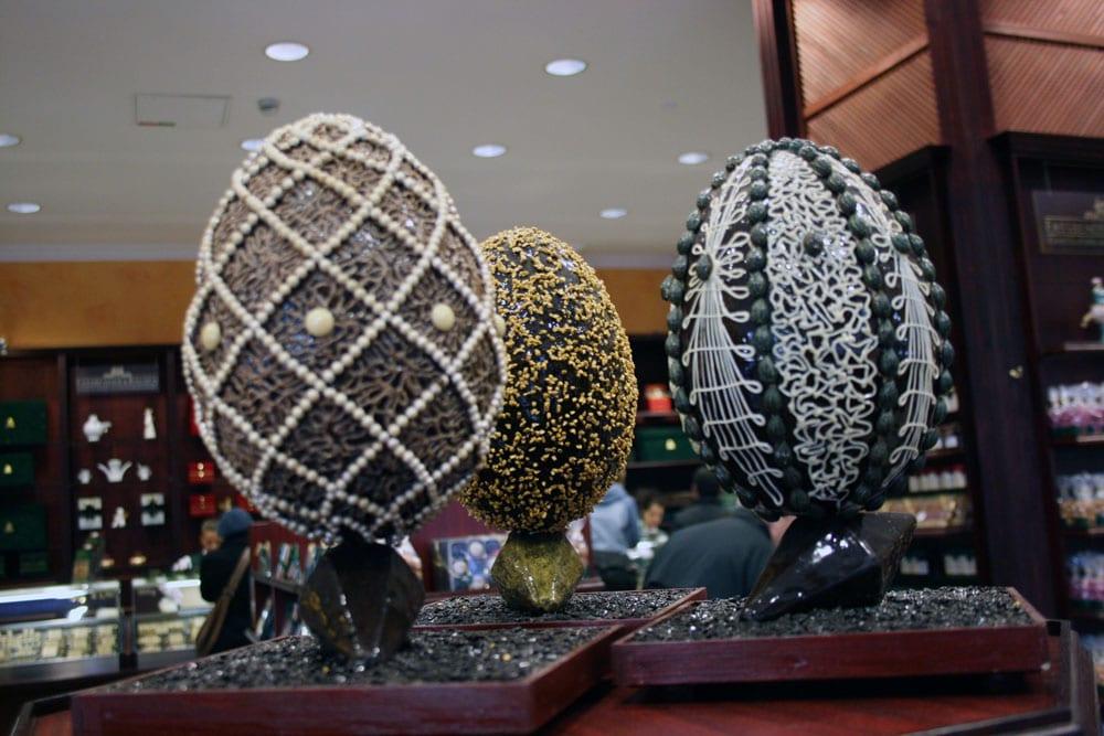 Le uova di Pasqua della rinomata cioccolateria Fassbender