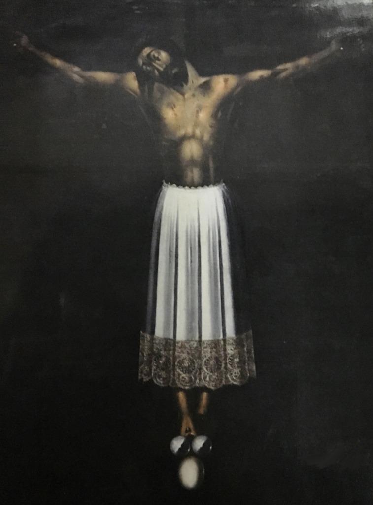 Cristo di Burgos, con l'uovo ai piedi,conservato nella chiesa di San Giovanni Evangelista a Scicli.
