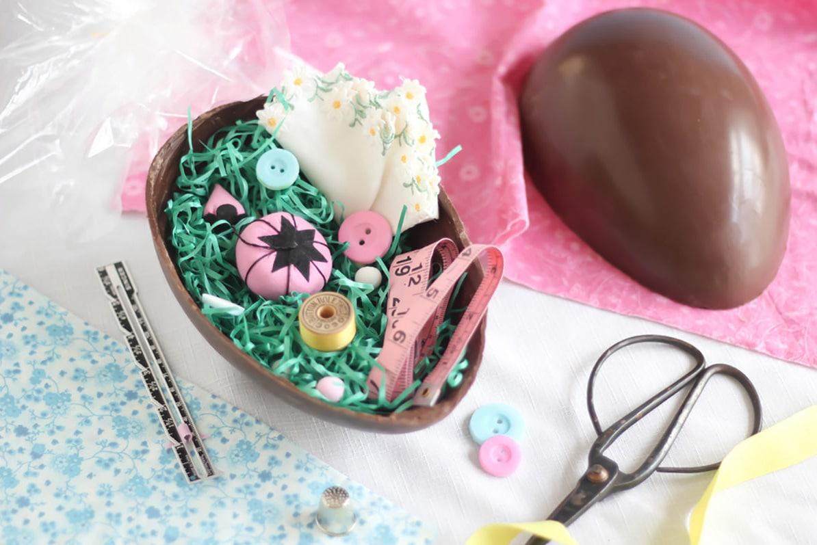 L 39 uovo di pasqua di cioccolato e di carta fatto in casa - Uova di pasqua in casa ...