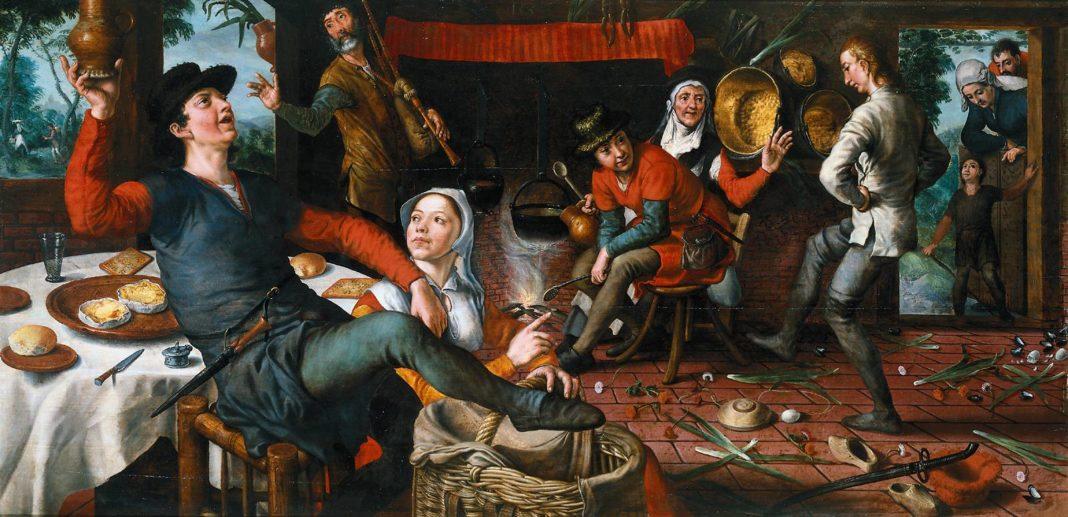 Pieter Aertsen, Danza dell'Uovo, Olio su tavola, 1620