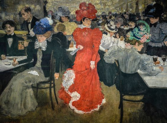 In the Cafe d'Harcourt in Paris - Henri Evenepoel (1897)