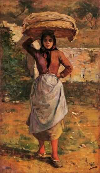 La Procaccina del Gabbro - Silvestro Lega (1865 circa)