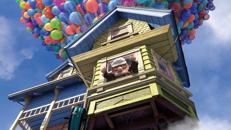 La casa del signor Carl Fredricksen nel film di animazione Up