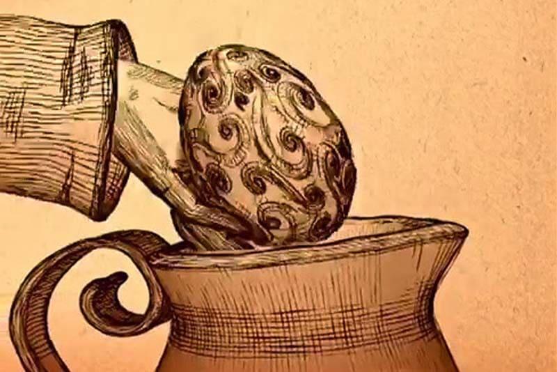 Un dettaglio della locandina del tour-gioco, Caccia all'ovo incantato