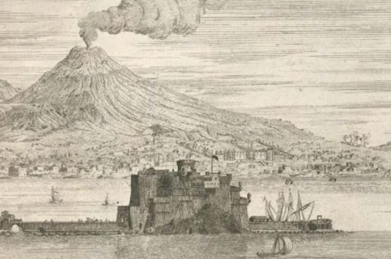 Castel dell'Ovo (Napoli) nella Cartografia del '700.
