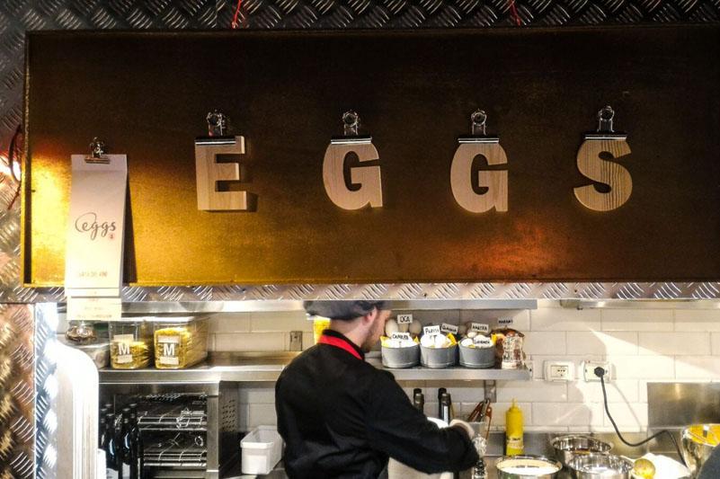 La cucina del bistrot Eggs, Roma
