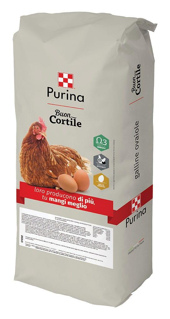 Mangime per galline ovaiole della linea BuonCortile a marchio Purina (Raggio di Sole)