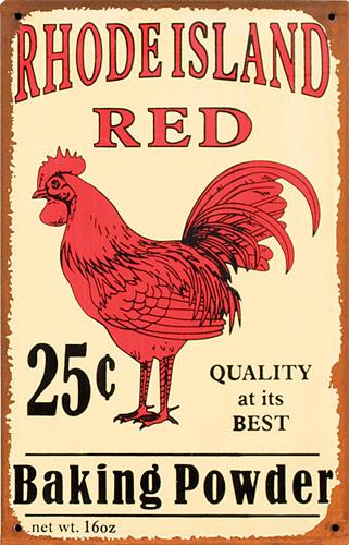 La grafica del lievito Rhode Island Red
