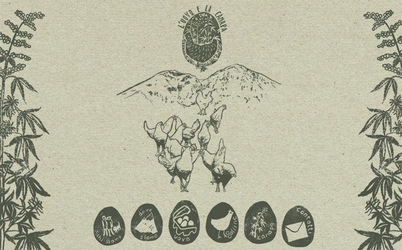 La home page del sito del progetto L'uovo e la canapa