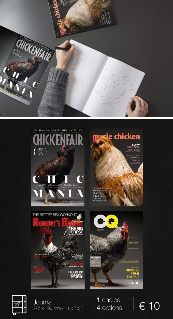 I 4 COLLECTABLE JOURNAL del progetto CHICken