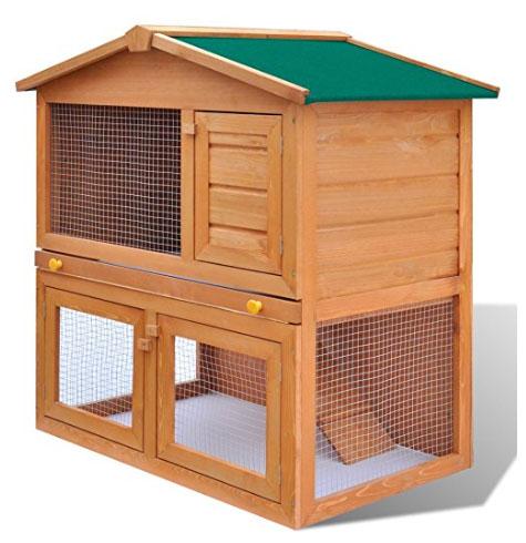 casina per galline in legno con porte
