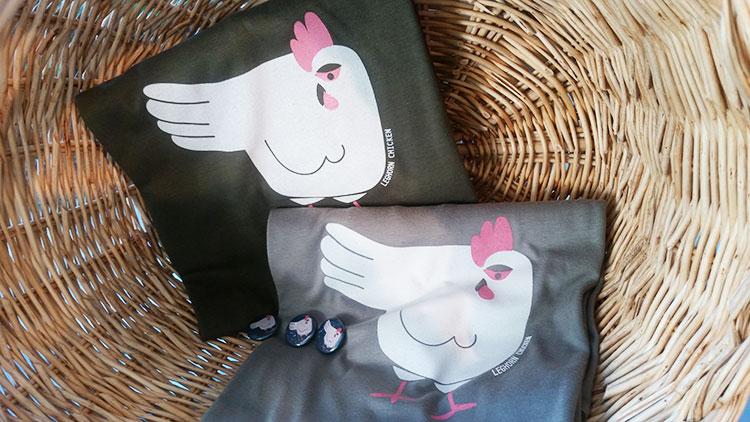 T-shirt Leghorn Chicken realizzate da TuttoSulleGalline in occasione del convegno sulla gallina livornese tenutosi a Livorno
