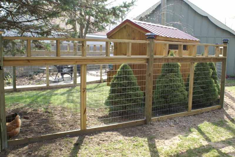 Recinzione da giardino per delimitare l'area adibita a pascolo (ottima idea posizionare anche delle piante all'interno del pascolo)