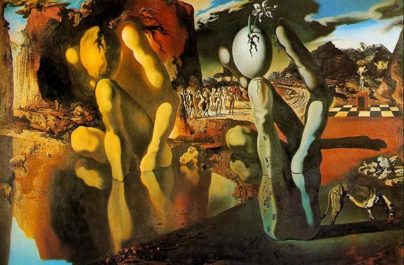 La metamorfosi di narciso (1937) - Salvador Dalì | TuttoSulleGalline.it