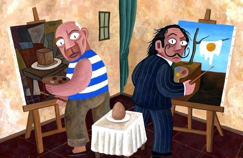 Picasso e Dalì disegnano un uovo - David Vela | TuttoSulleGalline.it