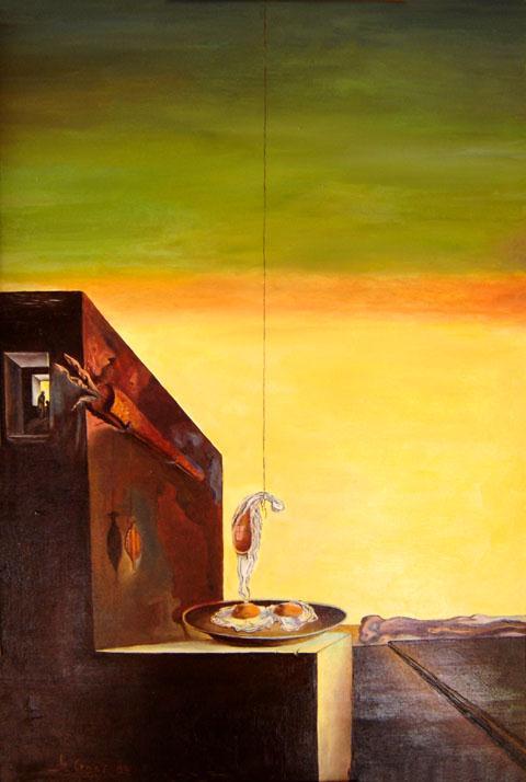 Uova al tegame senza tegame (1932) - Salvador Dalì | TuttoSulleGalline.it