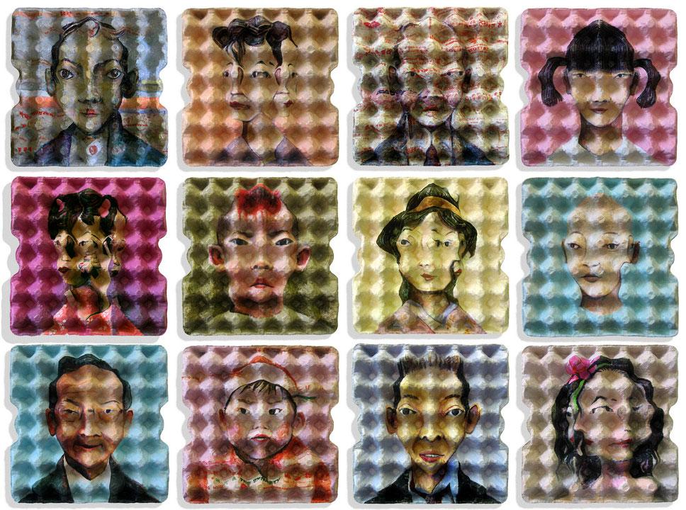 EggCubism, opere di uovocubismo con ispirazione Pop Art