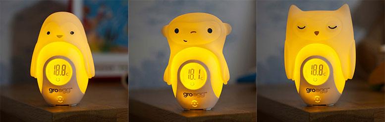 Gro Egg - Il termometro digitale luminoso a forma d'uovo con le cover di animali