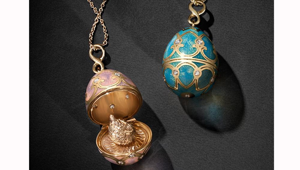 Ciondoli e pendenti ispirati alle uova Fabergé