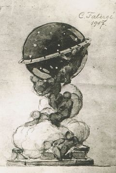 Uovo della Costellazione (Fabergé), progetto grafico originale del 1917