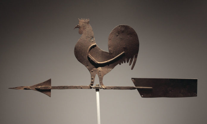 La banderuola segnavento a forma di gallo | TuttoSulleGalline.it