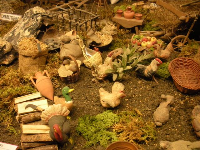 Le galline e il pollaio nel Presepe di Natale