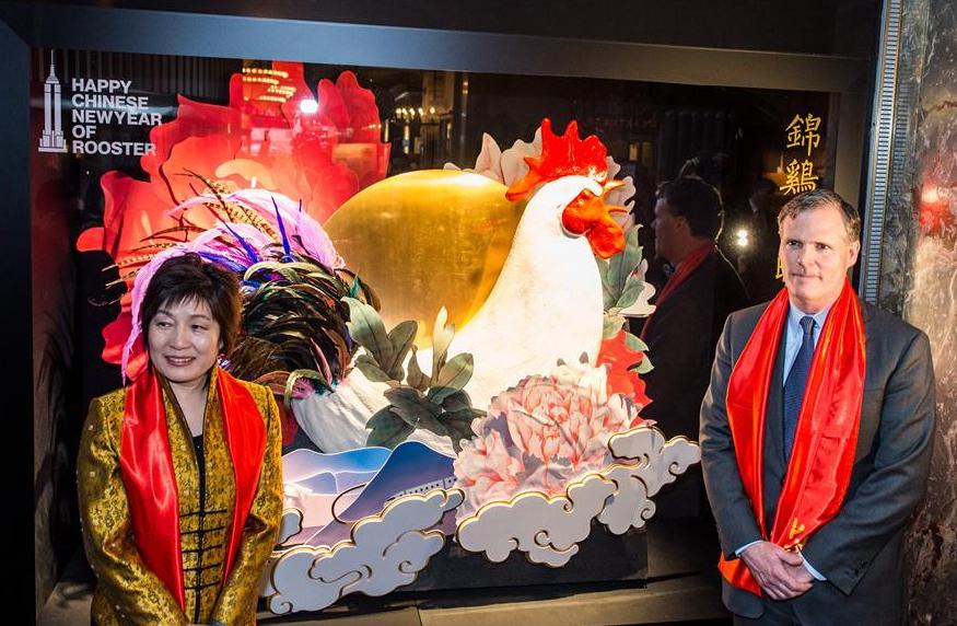 Anno del gallo 2017 nell'oroscopo cinese: una foto dei festeggiamenti pe ril capodanno