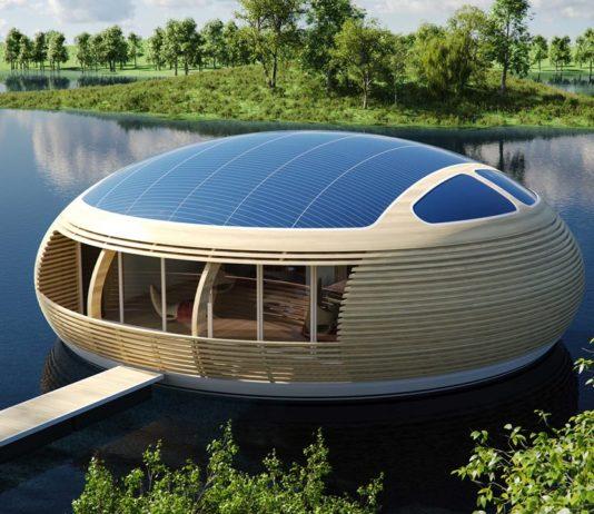 La casa galleggiante a forma d'uovo dell'architetto Giancarlo Zema: WaterNest100   Tuttosullegalline.it