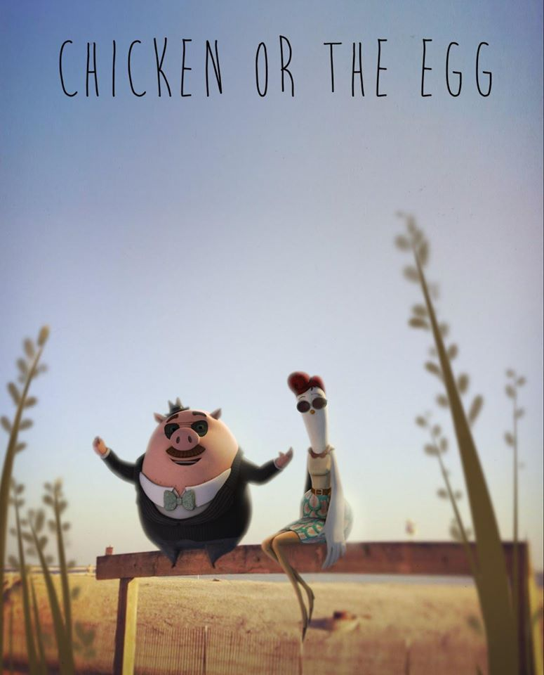 I protagonisti del cartone animato Chicken or the Egg