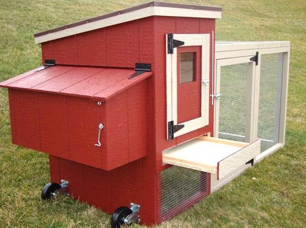 mini pollaio da giardino con cassetta in legno