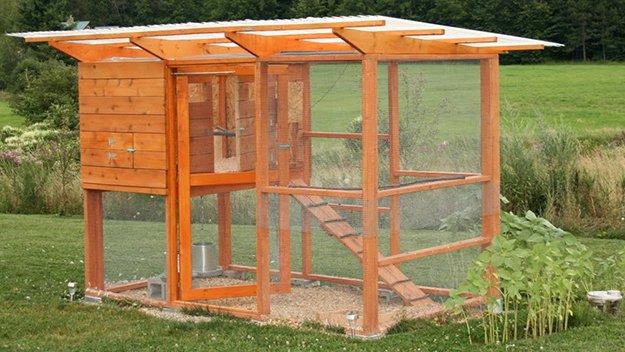 Mini pollaio per 2 galline con recinto-giardino