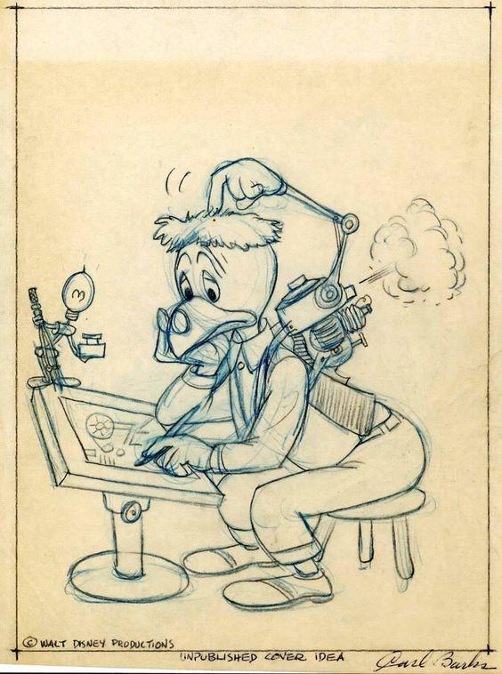 Archimede Pitagorico, il gallo della Walt Disney