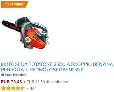 Sega a motore per potature e giardinaggio
