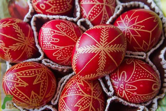Uova rosse della Pasqua ortodossa
